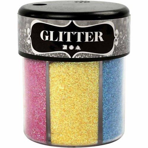 Sada Glitter třpytky 6 x 13 g světlé barvy