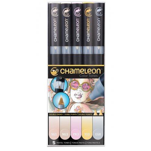 Set Chameleon tónovací fixy, 5ks - pastelové tóny