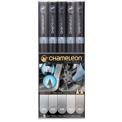 Set Chameleon tónovací fixy, 5ks - šedé tóny
