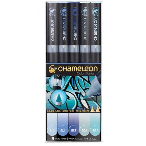Set Chameleon tónovací fixy, 5ks - modré tóny