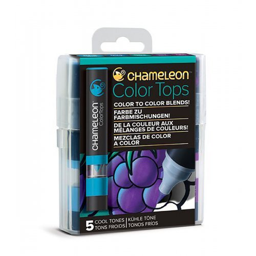 Set Chameleon Color Tops, 5ks - studené tóny