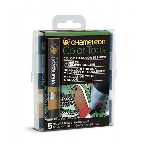 Set Chameleon Color Tops, 5ks - přírodní tóny