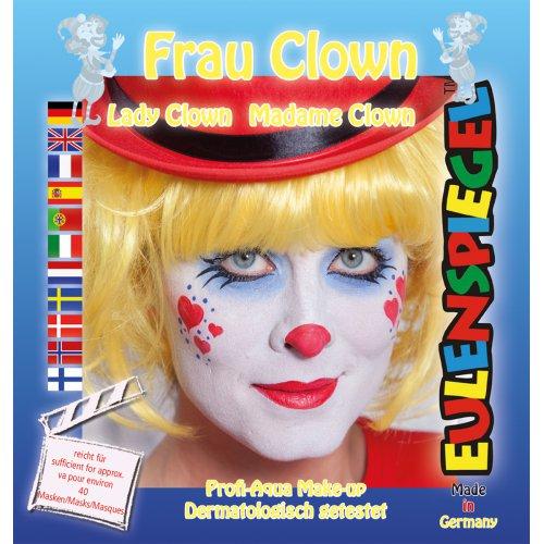 Sada barev na obličej - paní Klaunová