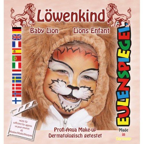 Sada barev na obličej - lvíček