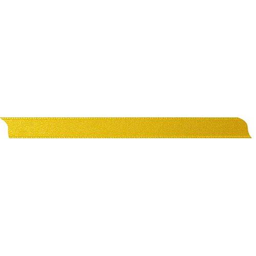 Saténová stuha oboustranná SVĚTLE ŽLUTÁ šířka 10 mm - 10 m v roli