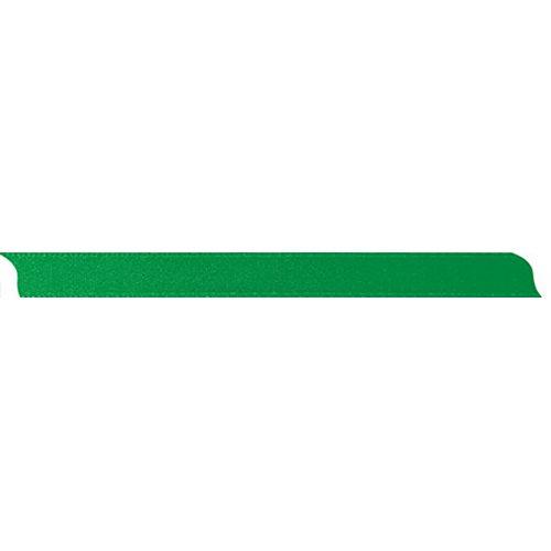 Saténová stuha oboustranná ZELENÁ šířka 10 mm - 10 m v roli