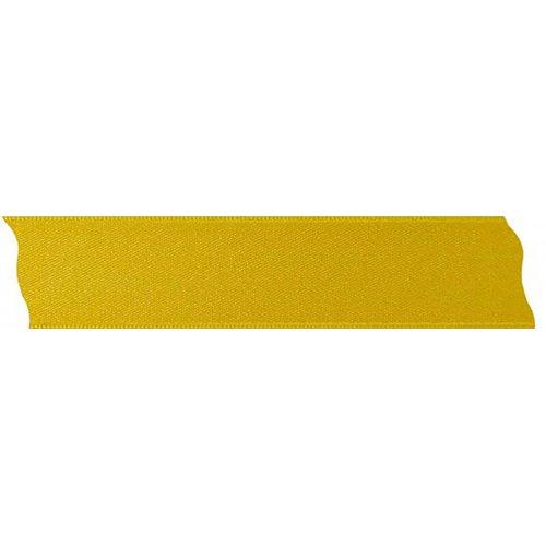 Saténová stuha oboustranná ŽLUTÁ šířka 25 mm - 5 m v roli