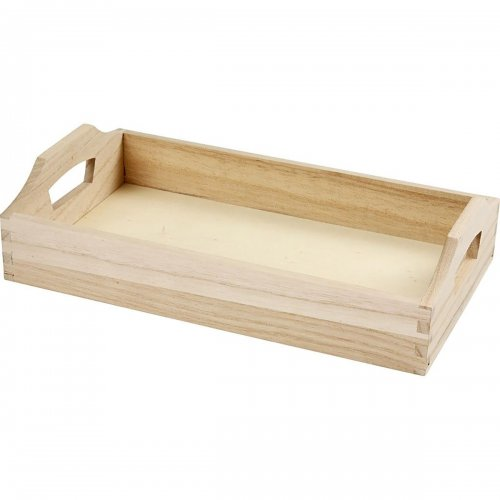Podnos dřevěný k dotvoření 30x17x5 cm