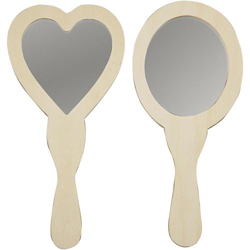 Zrcátko ruční k dotvoření velikost 23-24 cm, 2 druhy ovál a srdce - CC577160.jpg