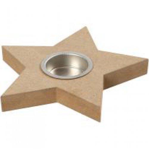 Držáček na čajovou svíčku k dotvoření 15x18 cm tvar hvězda na 1 svíčku - CC56708.jpg