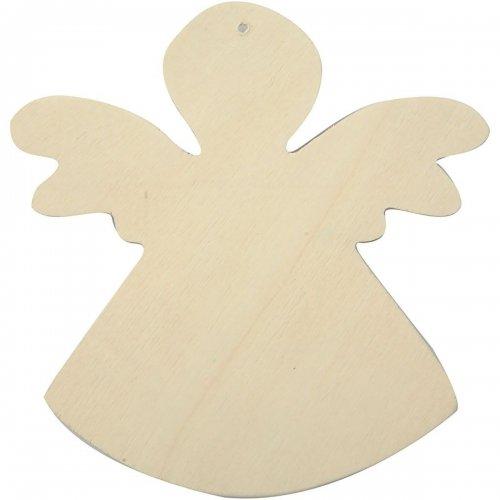 Anděl na zavěšení k dotvoření 12 x 11 cm, 6 ks v balení