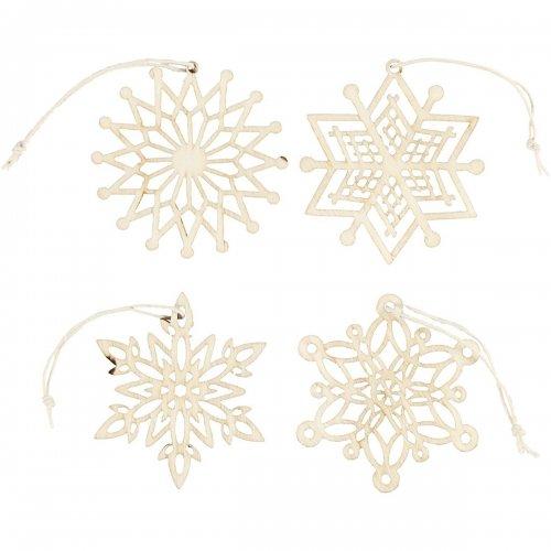 Ornamenty k dotvoření, průměr 7 cm, 8 ks v balení