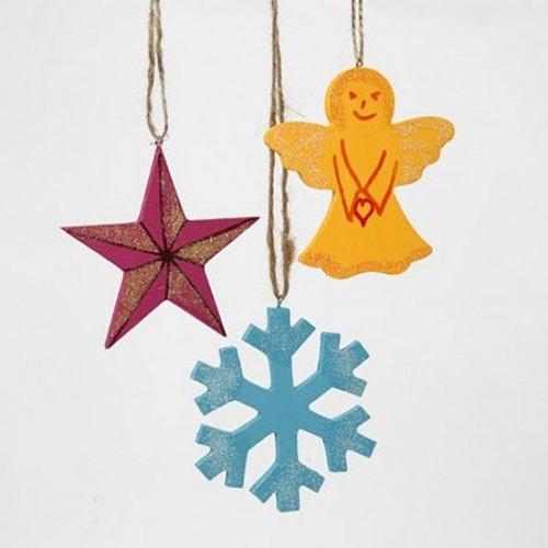Vánoční ornamenty k dotvoření, 7 x 9 cm, 6 ks v balení - CC564040_3.jpg