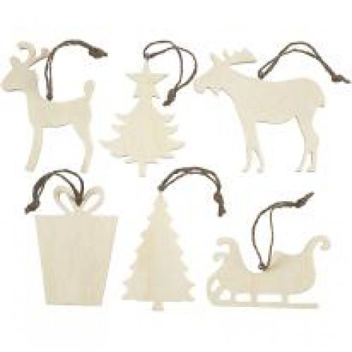 Vánoční ornamenty k dotvoření, 7 x 9 cm, 6 ks v balení - CC564040.jpg