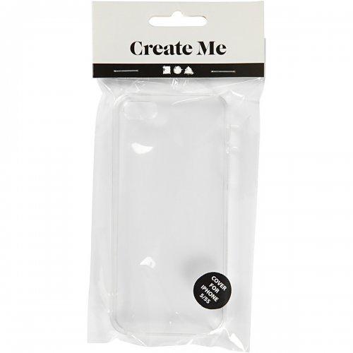 Obal na mobil iPhone 5/5S z tvrdého plastu k dotvoření, 6 x 12,5 cm, tl. 10 mm, transparentní - CC41389_2.jpg