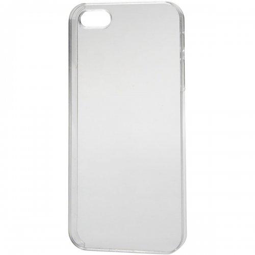 Obal na mobil iPhone 5/5S z tvrdého plastu k dotvoření, 6 x 12,5 cm, tl. 10 mm, transparentní
