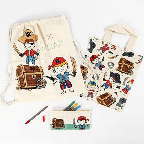 Malá taška se šnůrkou motiv PIRÁTI textil, 37 x  41 cm - CC499651_image1.jpg