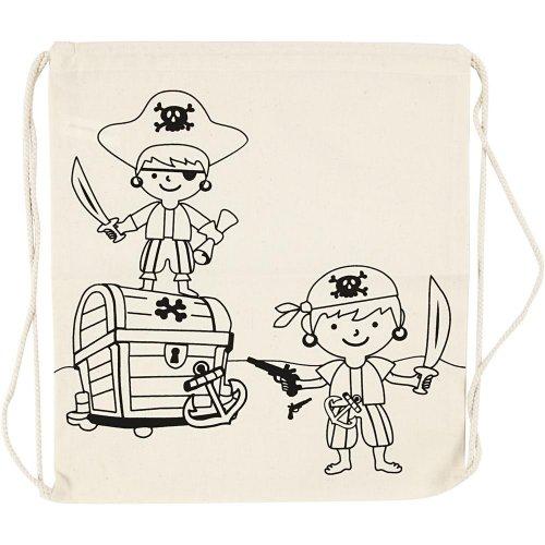 Malá taška se šnůrkou motiv PIRÁTI textil, 37 x  41 cm - CC499651.jpg
