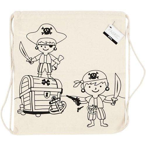Malá taška se šnůrkou motiv PIRÁTI textil, 37 x  41 cm - CC499651_a.jpg