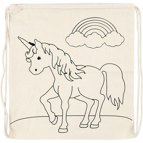Malá taška se šnůrkou motiv JEDNOROŽEC textil, 37 x  41 cm - CC499652.jpg