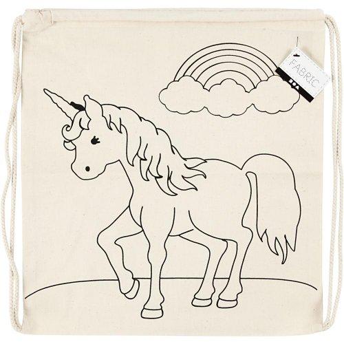 Malá taška se šnůrkou motiv JEDNOROŽEC textil, 37 x  41 cm - CC499652_a.jpg