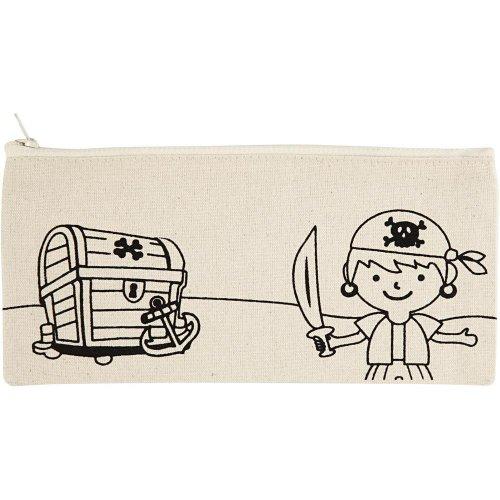 Pouzdro na tužky motiv PIRÁTI textil, 21 x 9 cm - CC499661.jpg