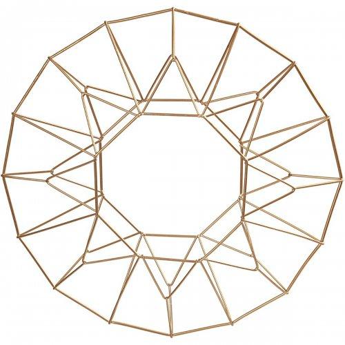 Drátěný základ pro věnec KRUH, průměr 28 cm