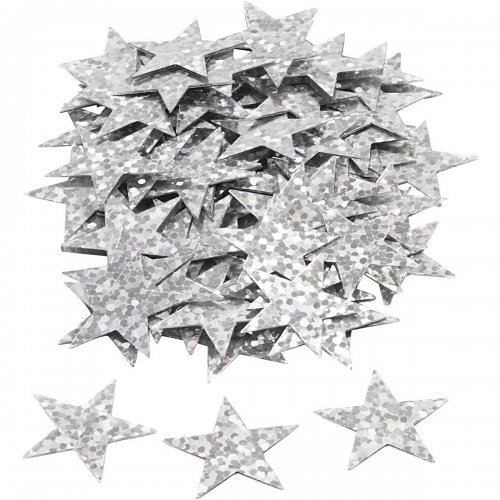 Flitry stříbrné, 18 mm, hvězdy, 10 g - CC588018_10.jpg