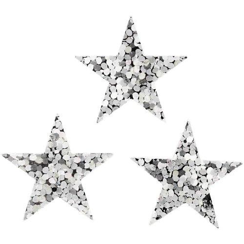 Flitry stříbrné, 18 mm, hvězdy, 10 g - CC588018.jpg