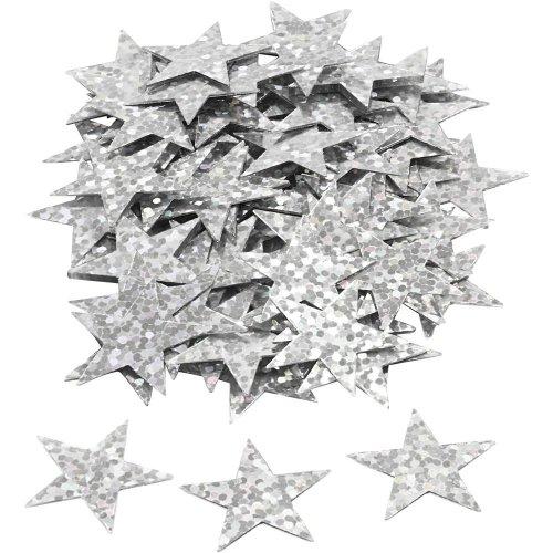 Flitry stříbrné, 18 mm, hvězdy, 10 g - CC588018_a.jpg