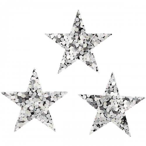 Flitry stříbrné, 18 mm, hvězdy, 10 g