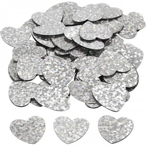 Flitry stříbrné, 16 mm, srdce, 10 g - CC589018_10.jpg