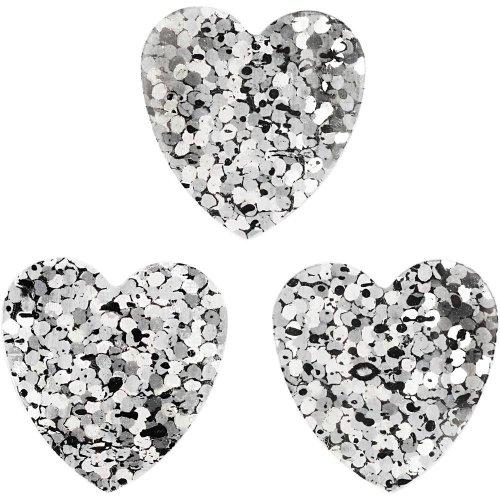 Flitry stříbrné, 16 mm, srdce, 10 g - CC589018.jpg