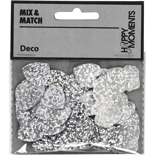 Flitry stříbrné, 16 mm, srdce, 10 g - CC589018_b.jpg