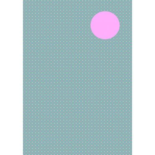 Kreativní papír skládací  TEČKY  ŠEDÁ/RŮŽOVÁ, 10 x 10 cm 60 listů 80 g/m2 v bloku