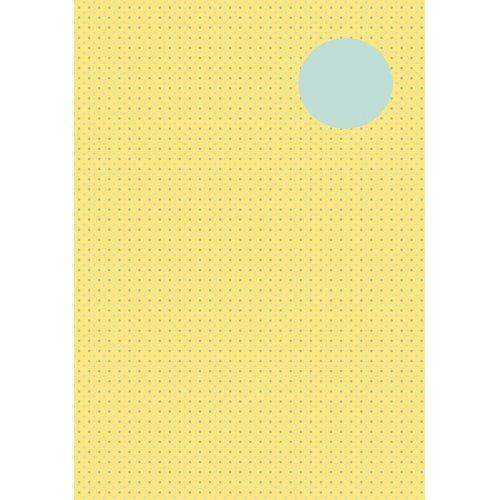 Kreativní papír skládací TEČKY  ŽLUTÁ/ŠEDÁ, 10 x 10 cm 60 listů 80 g/m2 v bloku