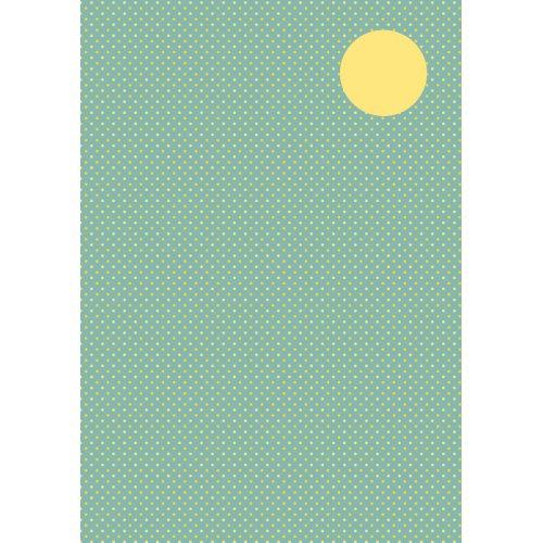 Kreativní papír TEČKY ŠEDÁ/ŽLUTÁ DIN A4 250 g / m2 8 listů