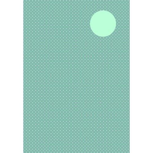Kreativní papír TEČKY ŠEDÁ/MÁTOVÁ DIN A4 - 8 listů