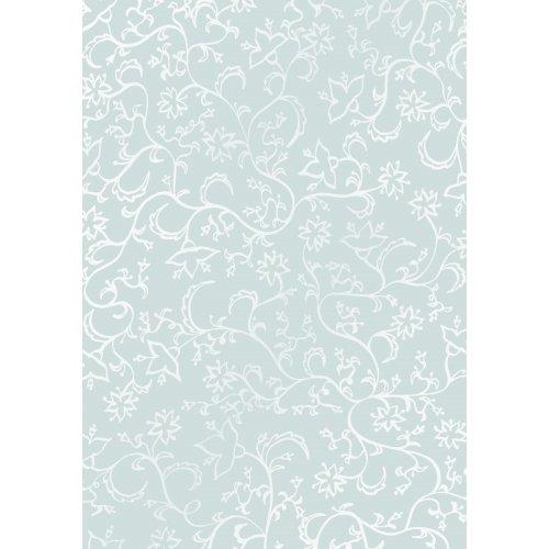 Transparentní papír extra silný, KVĚTINY - BÍLÉ DIN A4 10 listů 115 g / m2