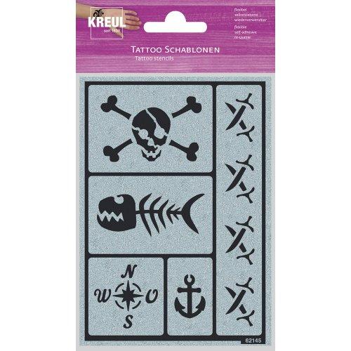 Tetovací šablona KREUL motiv PIRÁTSKÁ PÁRTY