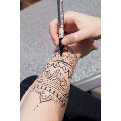 Sada Tetovací fix KREUL Tattoo Pen 4 ks KOTVA, HVĚZDA, MOTÝL - CK621_image02.jpg