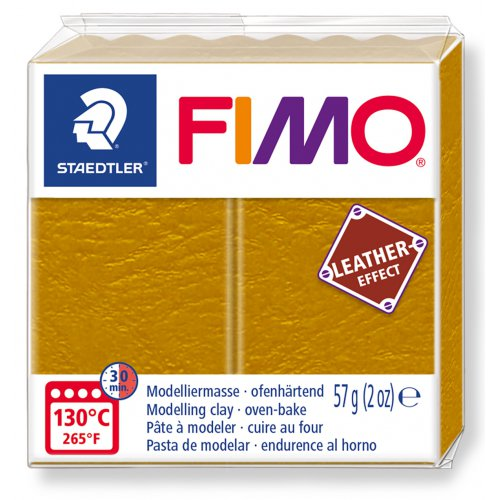 FIMO LEATHER efekt 57g OKROVÁ