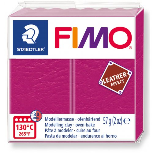 FIMO LEATHER efekt 57g MALINOVÁ