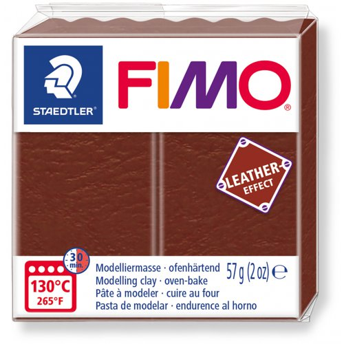FIMO LEATHER efekt 57g OŘÍŠKOVÁ