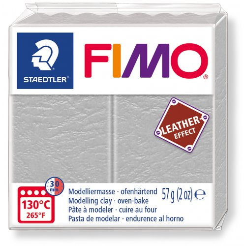 FIMO LEATHER efekt 57g HOLUBÍ ŠEDÁ