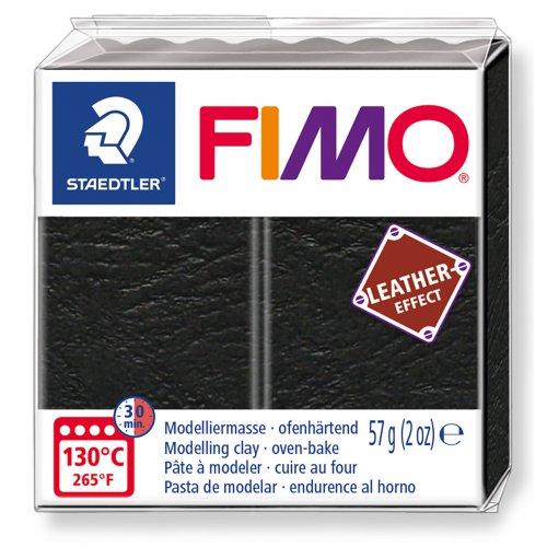 FIMO LEATHER efekt ČERNÁ