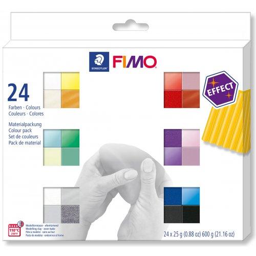 FIMO Efekt sada 24 barev 25 g