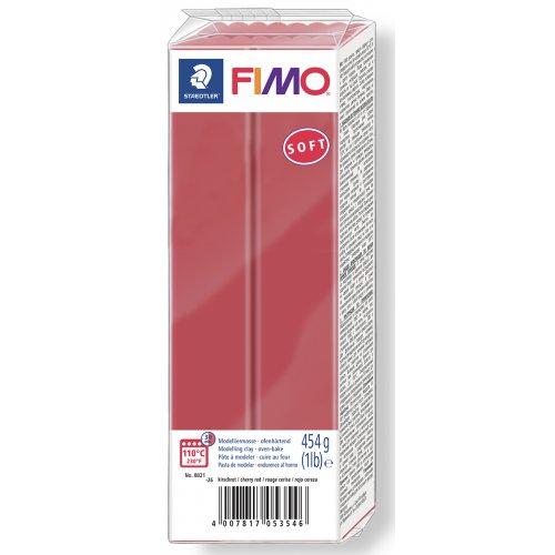 FIMO soft TMAVĚ ČERVENÁ 454 g blok