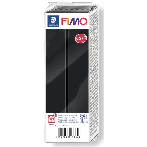 FIMO soft ČERNÁ 454 g blok