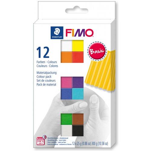 FIMO Soft sada 12 barev 25 g BASIC